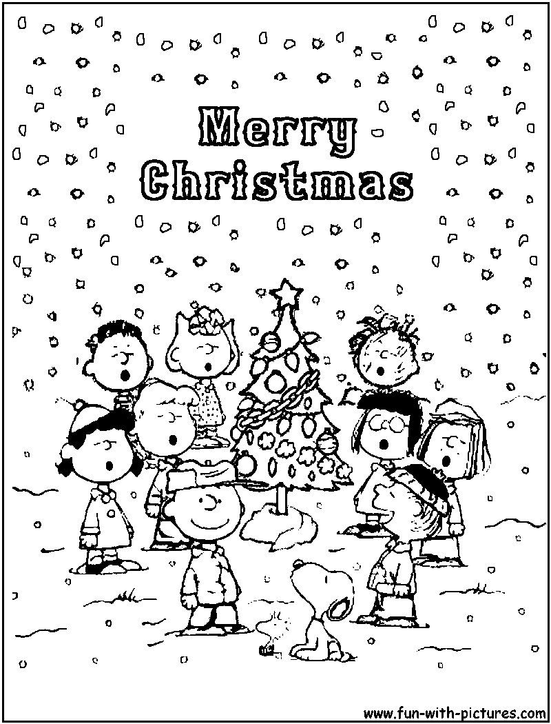 Merry Christmas Charlie Brown Coloring Pages With Bing Images LOVE CHARLIE