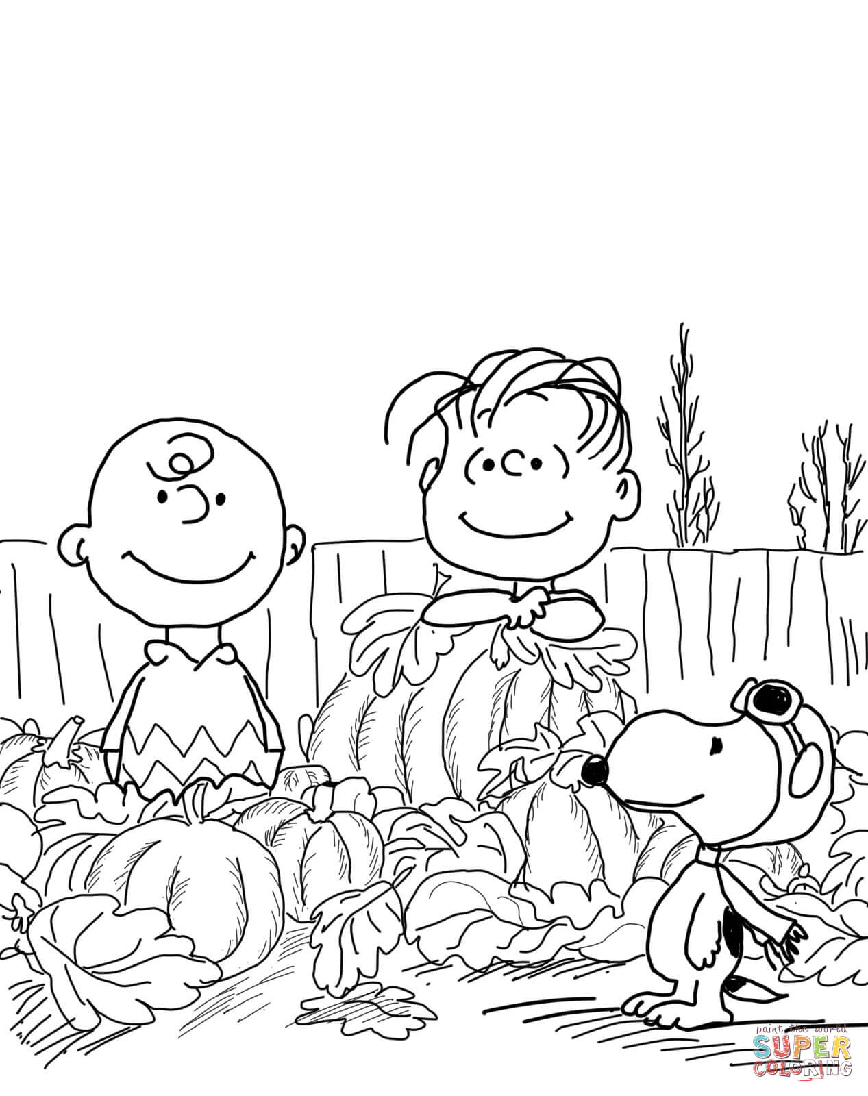 Merry Christmas Charlie Brown Coloring Pages With Tree Page Free Printable