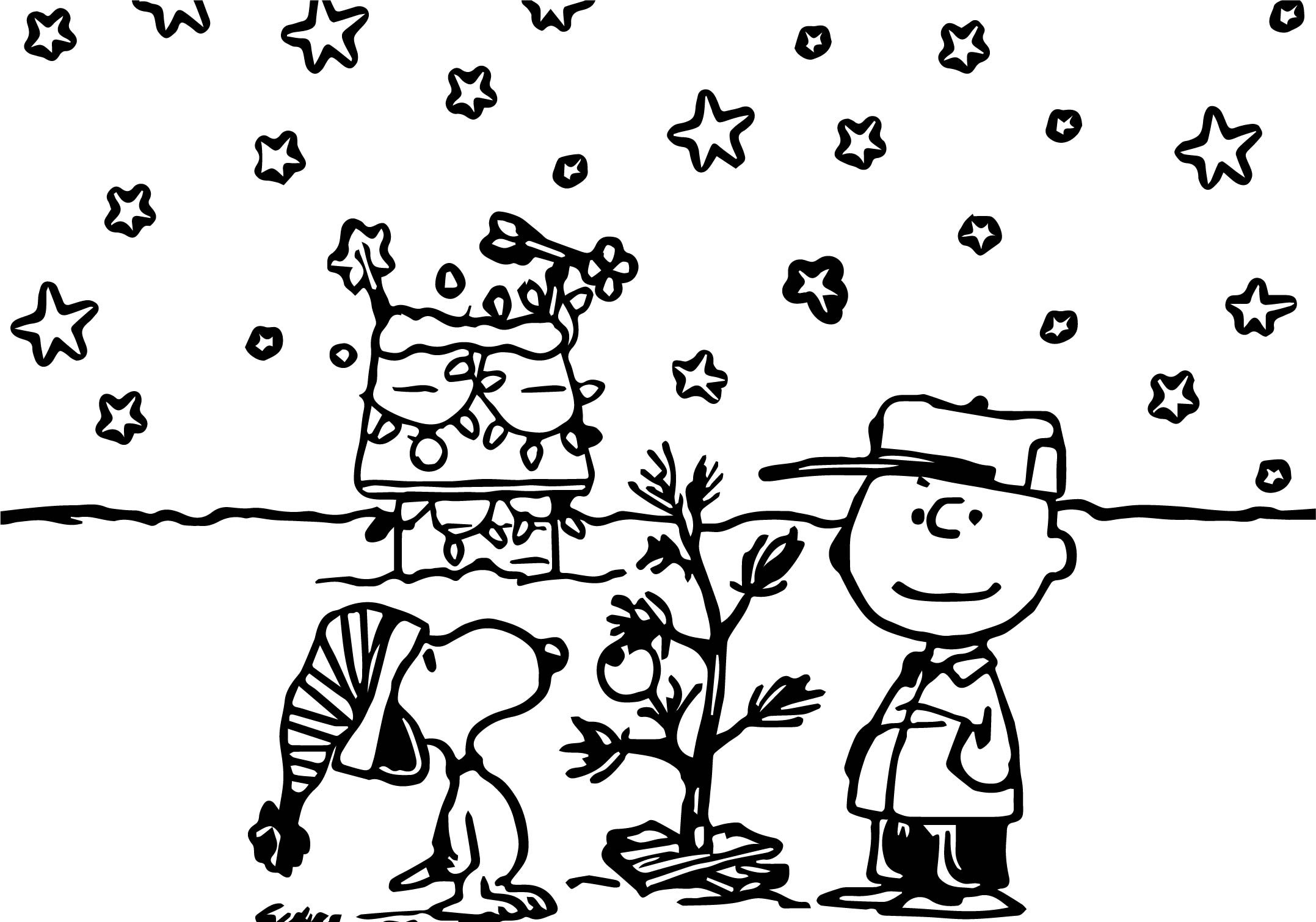 Merry Christmas Charlie Brown Coloring Pages Chrismast And