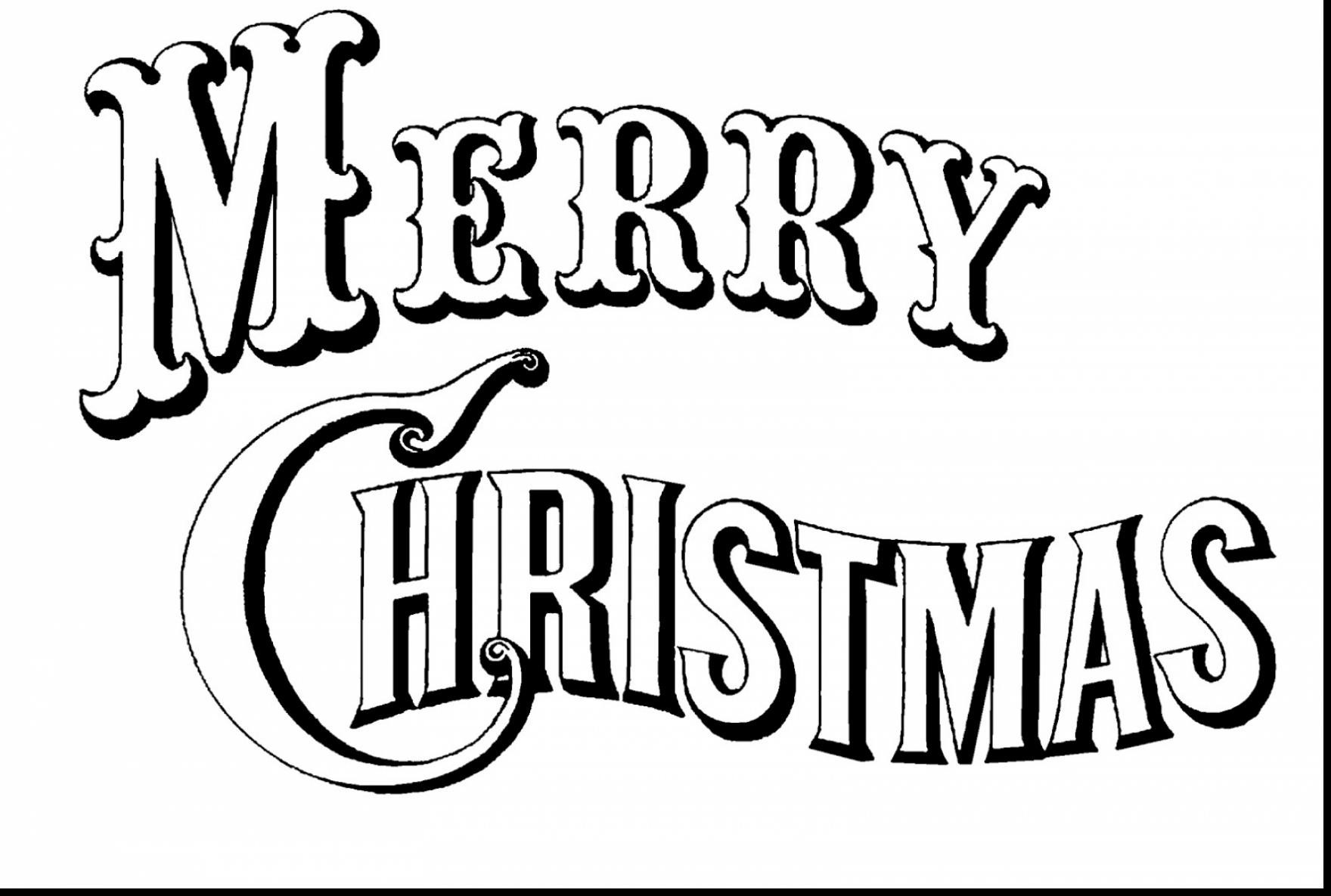 Merry Christmas Coloring Pages For Toddlers With Happy Refrence