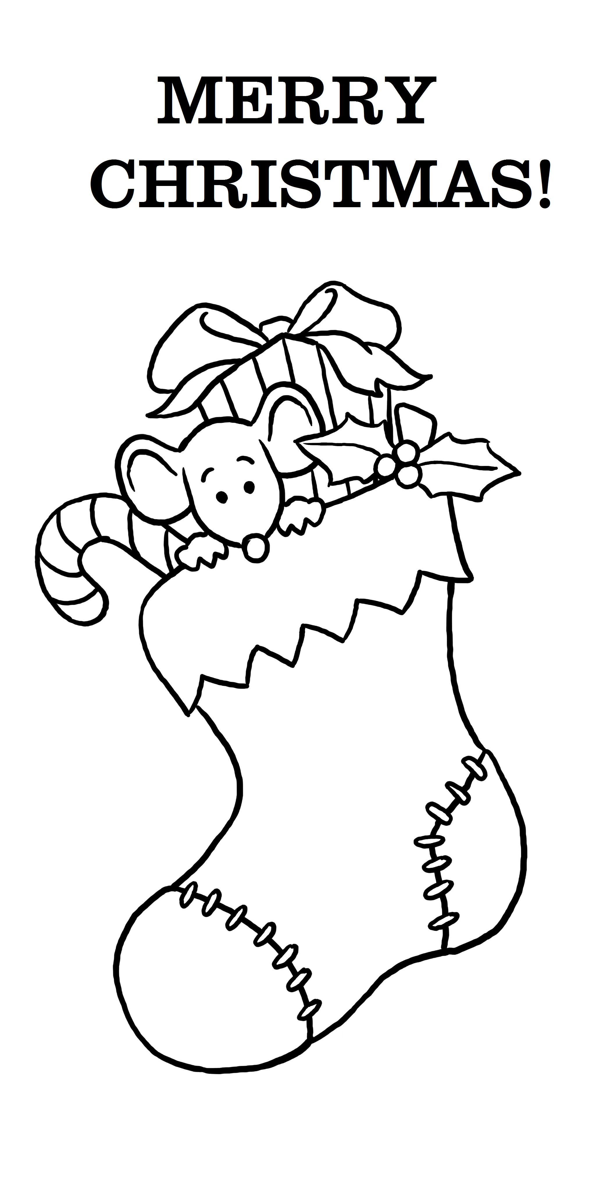 Merry Christmas Coloring Pages Pdf With Free Printable