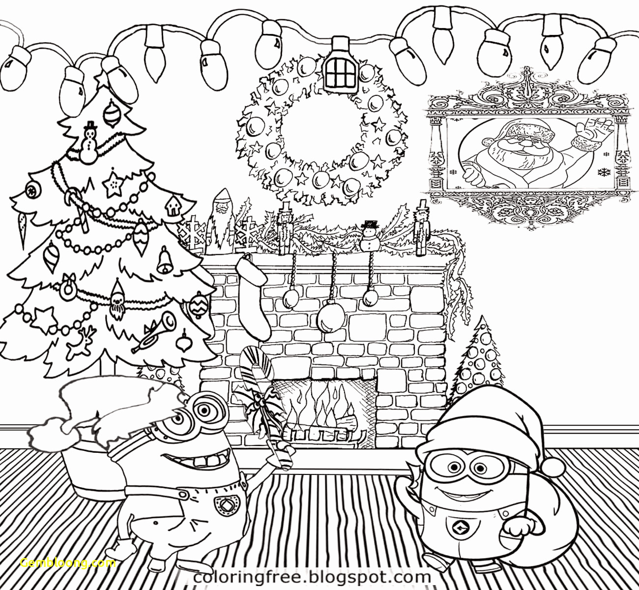 Merry Christmas Coloring Pages That Say With Free For Kids