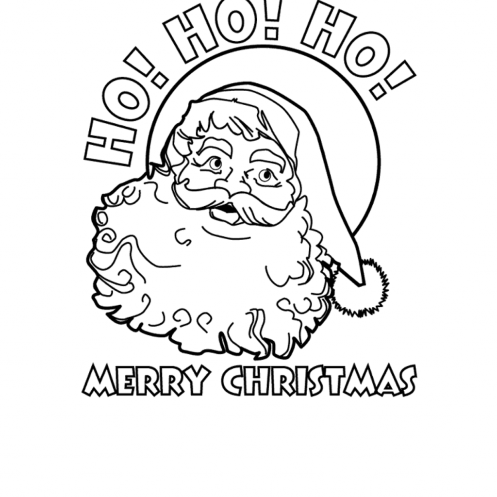 Merry Christmas Colouring Pages Printable With Coloring HO MERRY CHRISTMAS