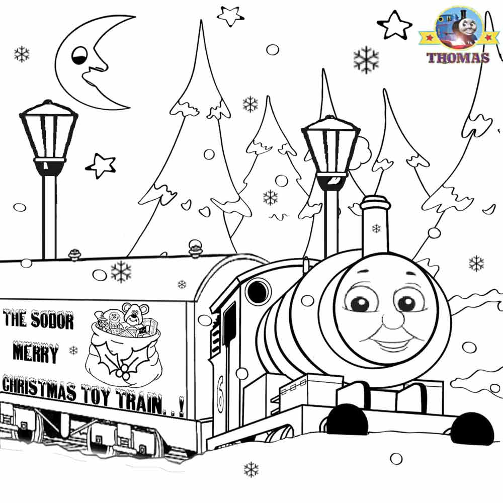 Merry Christmas Colouring Pages Printable With For Kids Thomas Winter Pictures
