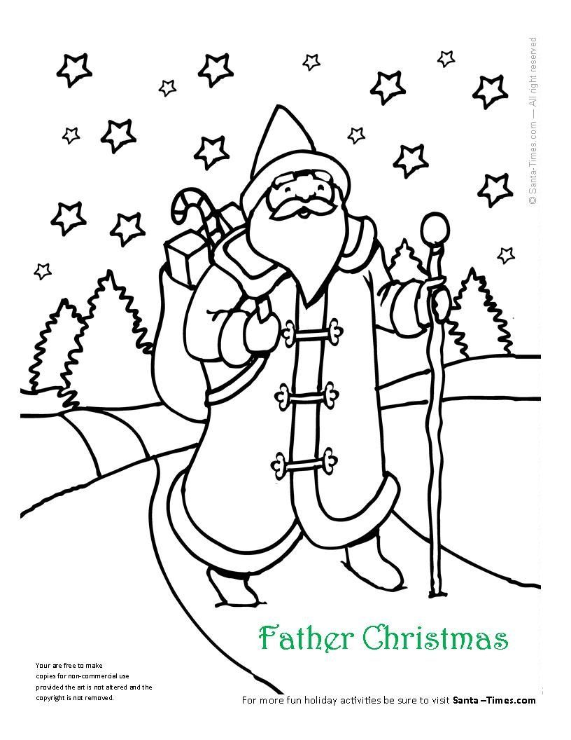 Merry Christmas Daddy Coloring Pages With Father Page More At Www Santa