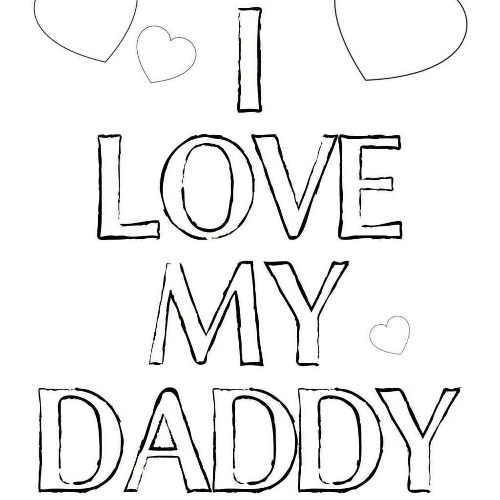 Merry Christmas Daddy Coloring Pages With I Love My Dad Mom And