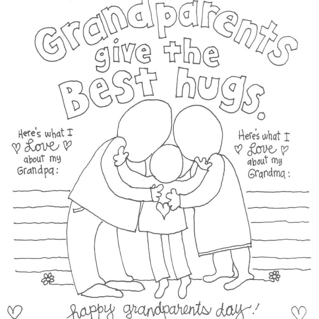 Merry Christmas Grandma Coloring Pages With The CUTEST Grandparents Day Crafts Pinterest