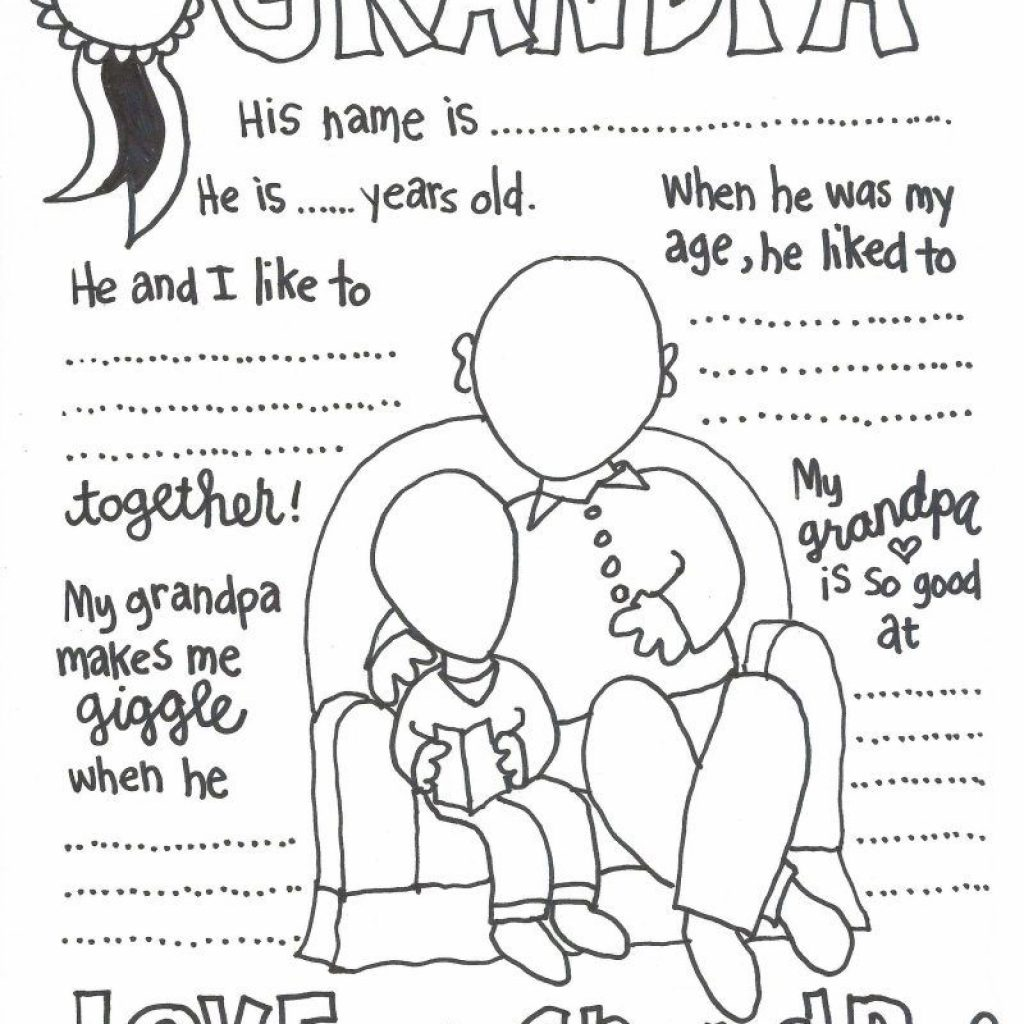 Merry Christmas Grandma Coloring Pages With The CUTEST Grandparents Day Father S