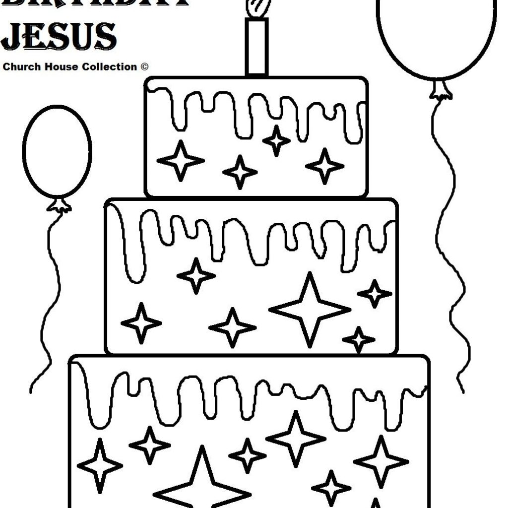 Merry Christmas Jesus Coloring Pages With Happy Birthday