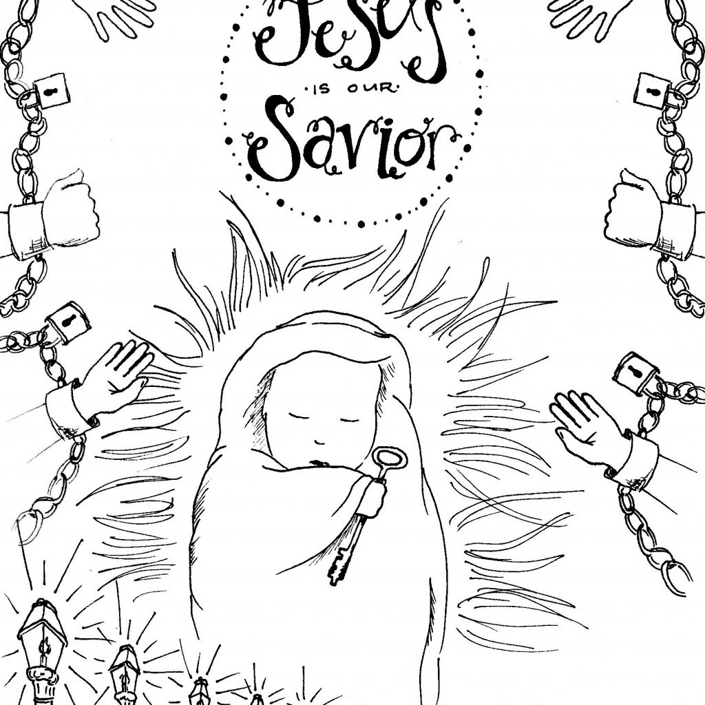 Merry Christmas Jesus Coloring Pages With Valid Baby