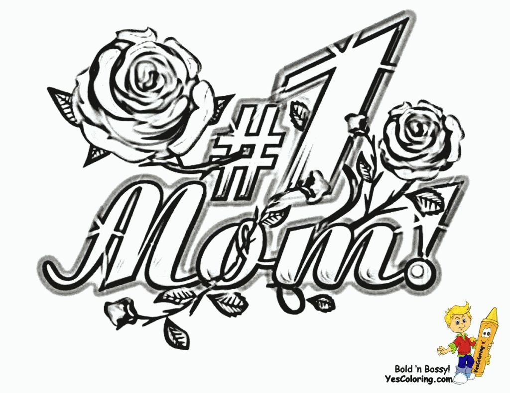 Merry Christmas Mom Coloring Pages With Graffiti Words I Love You Az