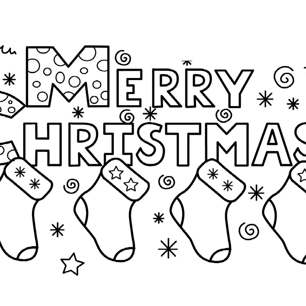 Merry Christmas Sign Coloring Pages With Colouring New Publimas Free