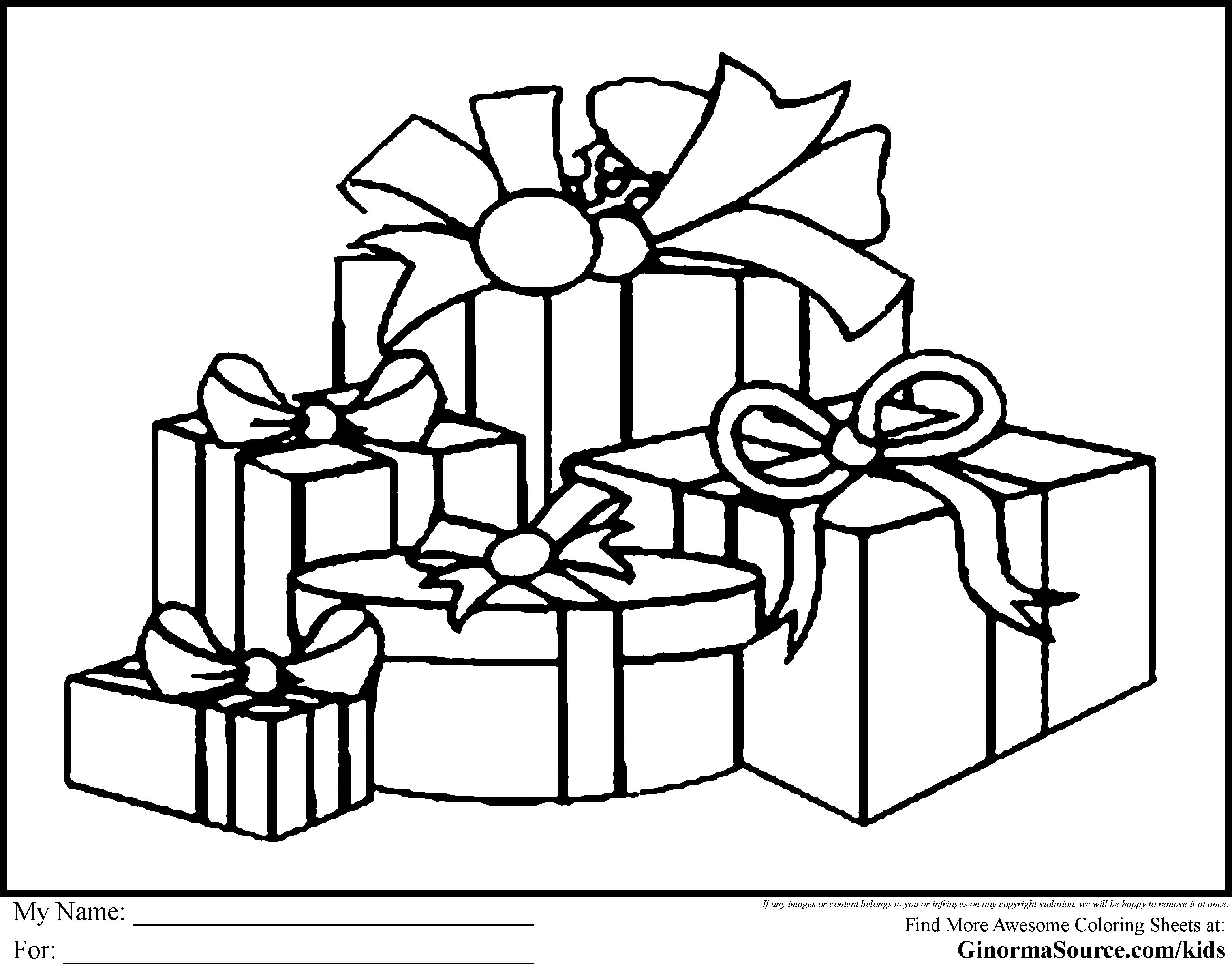 Merry Christmas Teacher Coloring Pages With Gifts Printable Fun For Throughout Animage Me