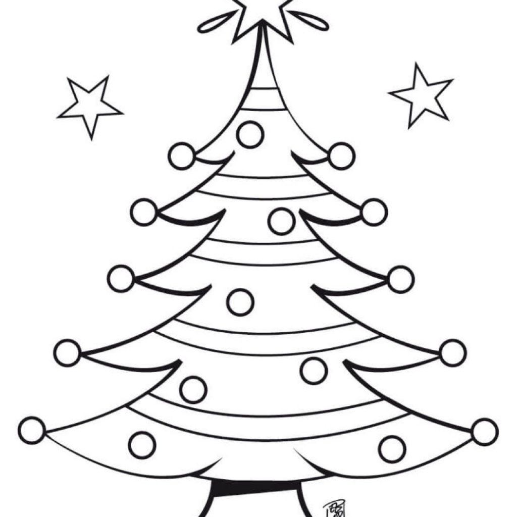 Merry Christmas Tree Coloring Page With 101 Best Pages For Kids Adults Printable