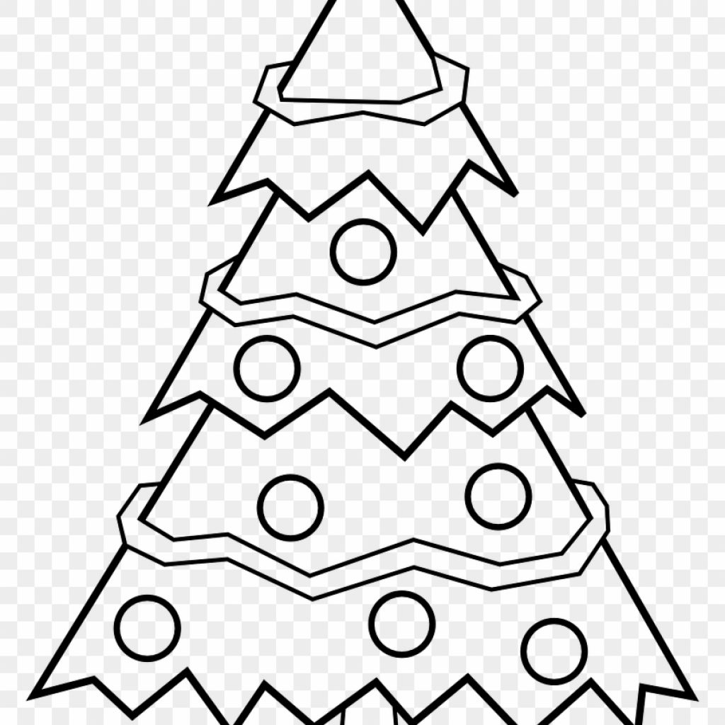 Merry Christmas Tree Coloring Page With Free Pages For Kids X Mas Black And