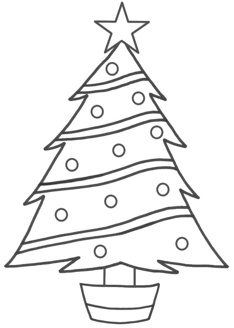 Merry Christmas Tree Coloring Page With Pin By Julia On Colorings Pinterest Pages