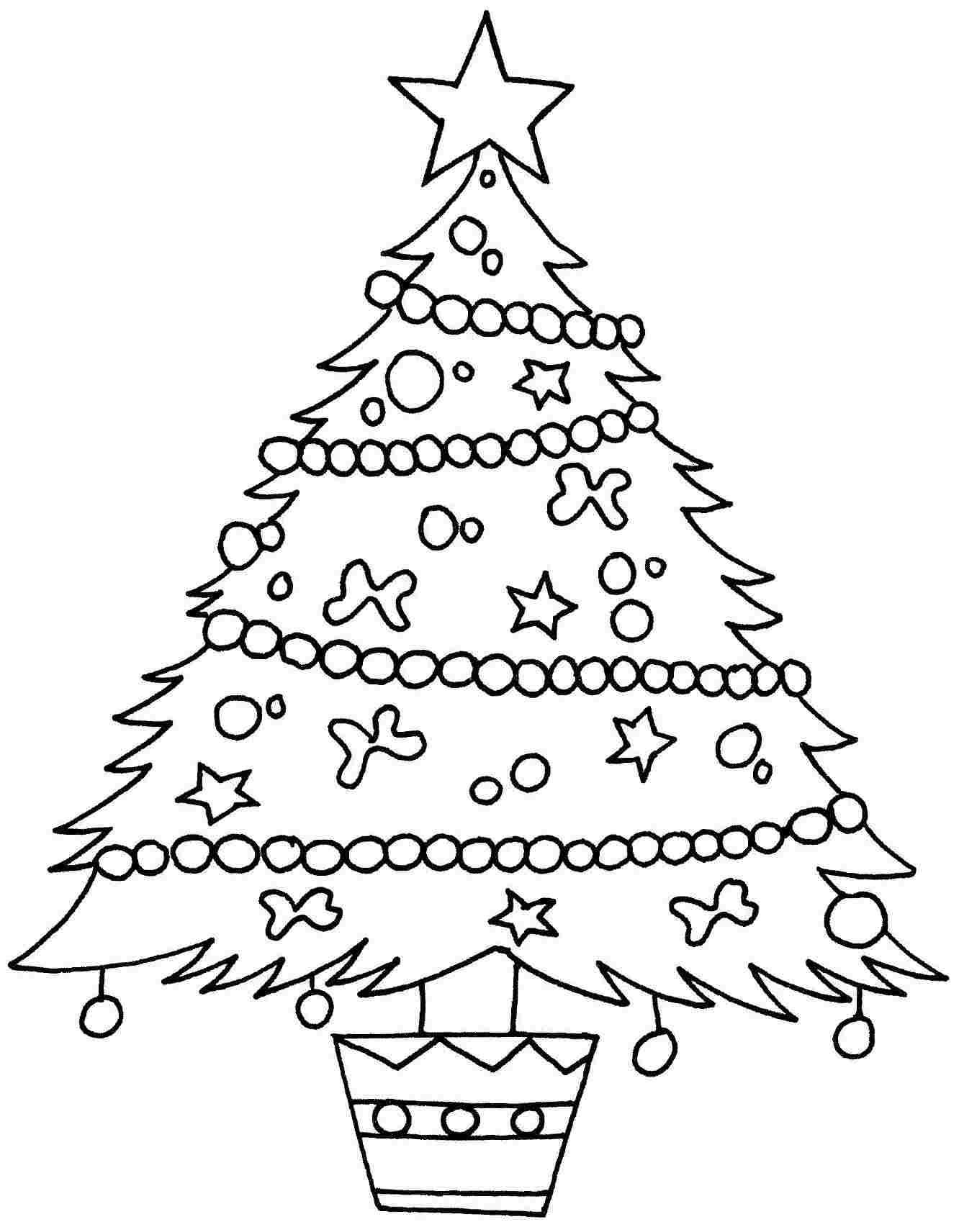 Merry Christmas Tree Coloring Page With Template 1 Work Stuff Pinterest