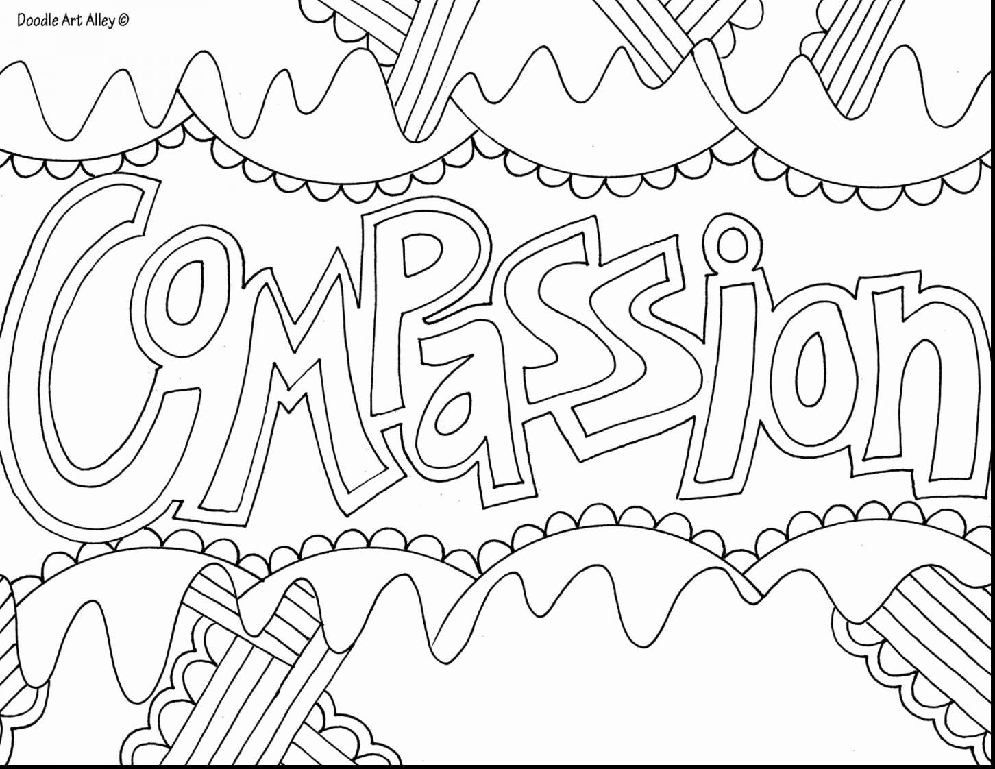 Merry Christmas Words Coloring Pages With Hard Printables Page 4