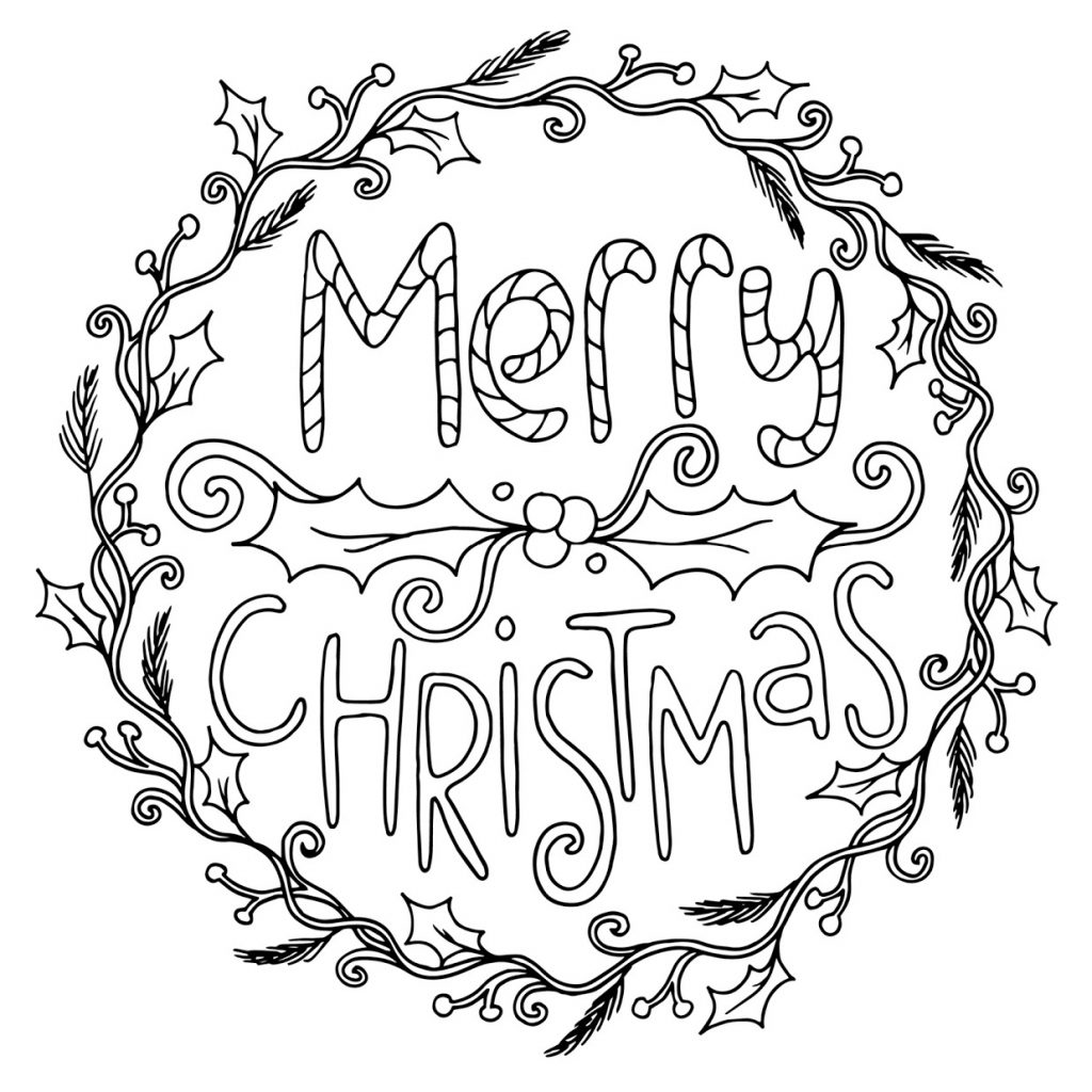 Merry Xmas Coloring Pages With Best Christmas 2018 For Kids