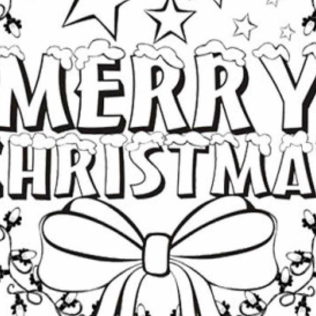 Merry Xmas Coloring Pages With Unique Cartoon Christmas Design Printable
