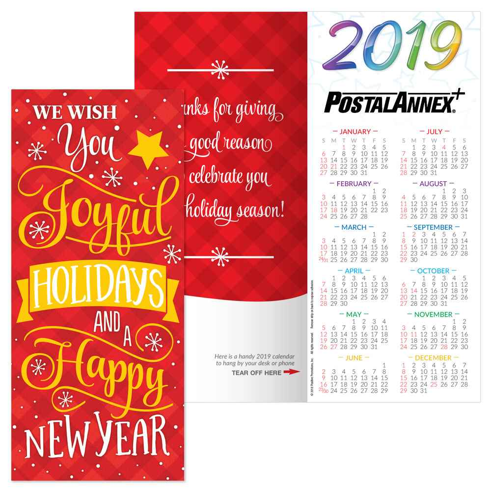 Military Fiscal Year 2019 Calendar With We Wish You Joyful Holidays And A Happy New Holiday