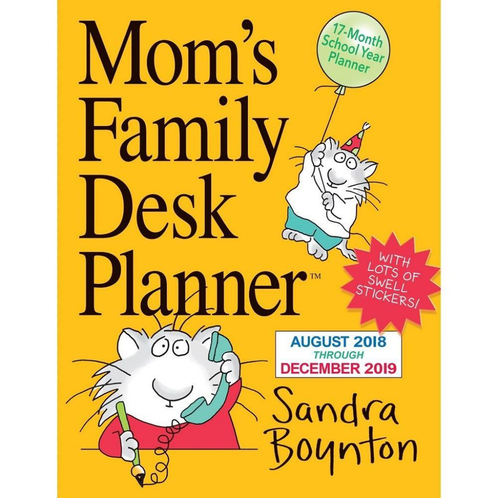 Mom S Busy Year Calendar 2019 With 9781523503148 Moms Family Boynton Medium Planner Engagement