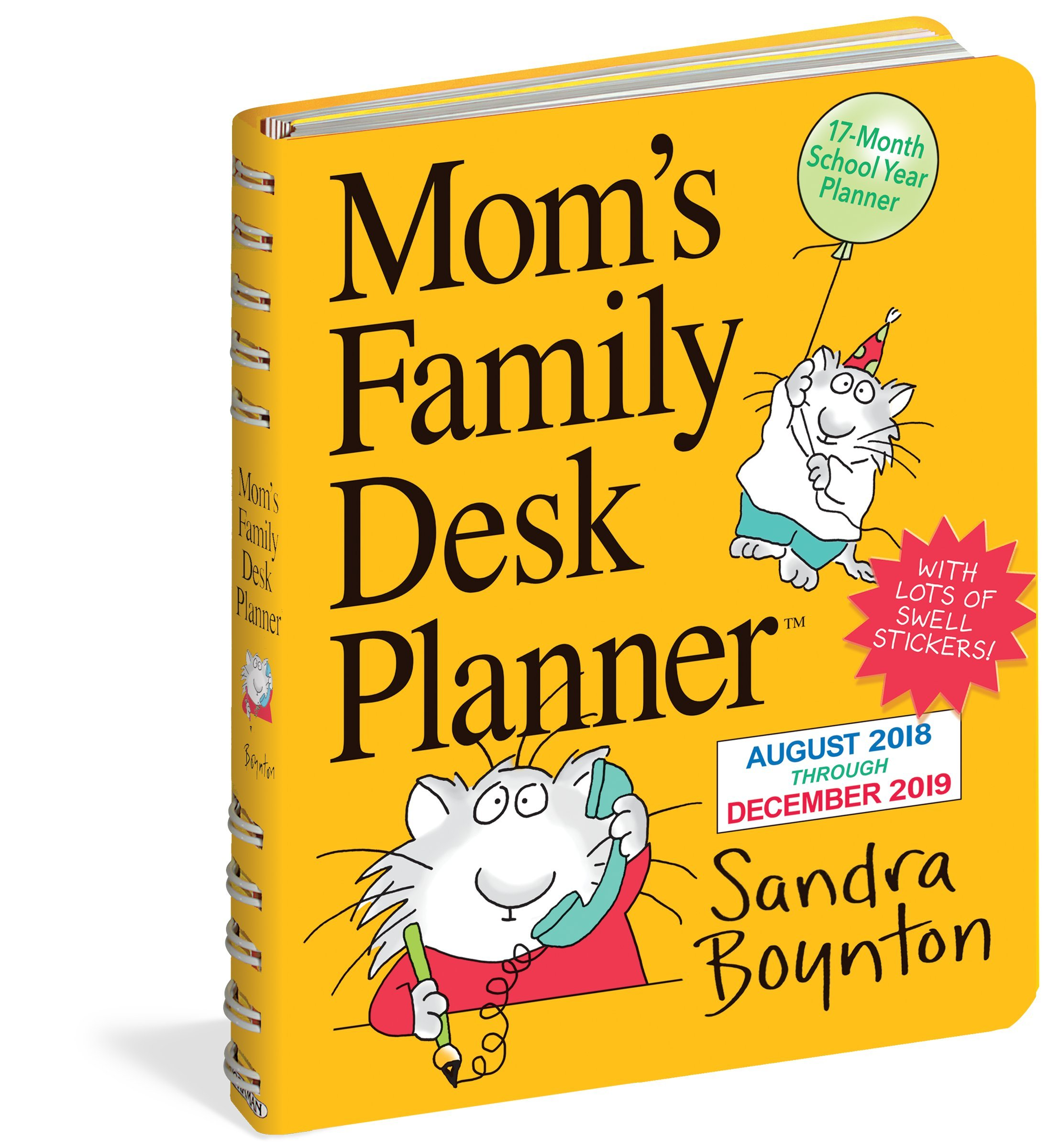 Mom S Busy Year Calendar 2019 With Family Desk Planner Sandra Boynton