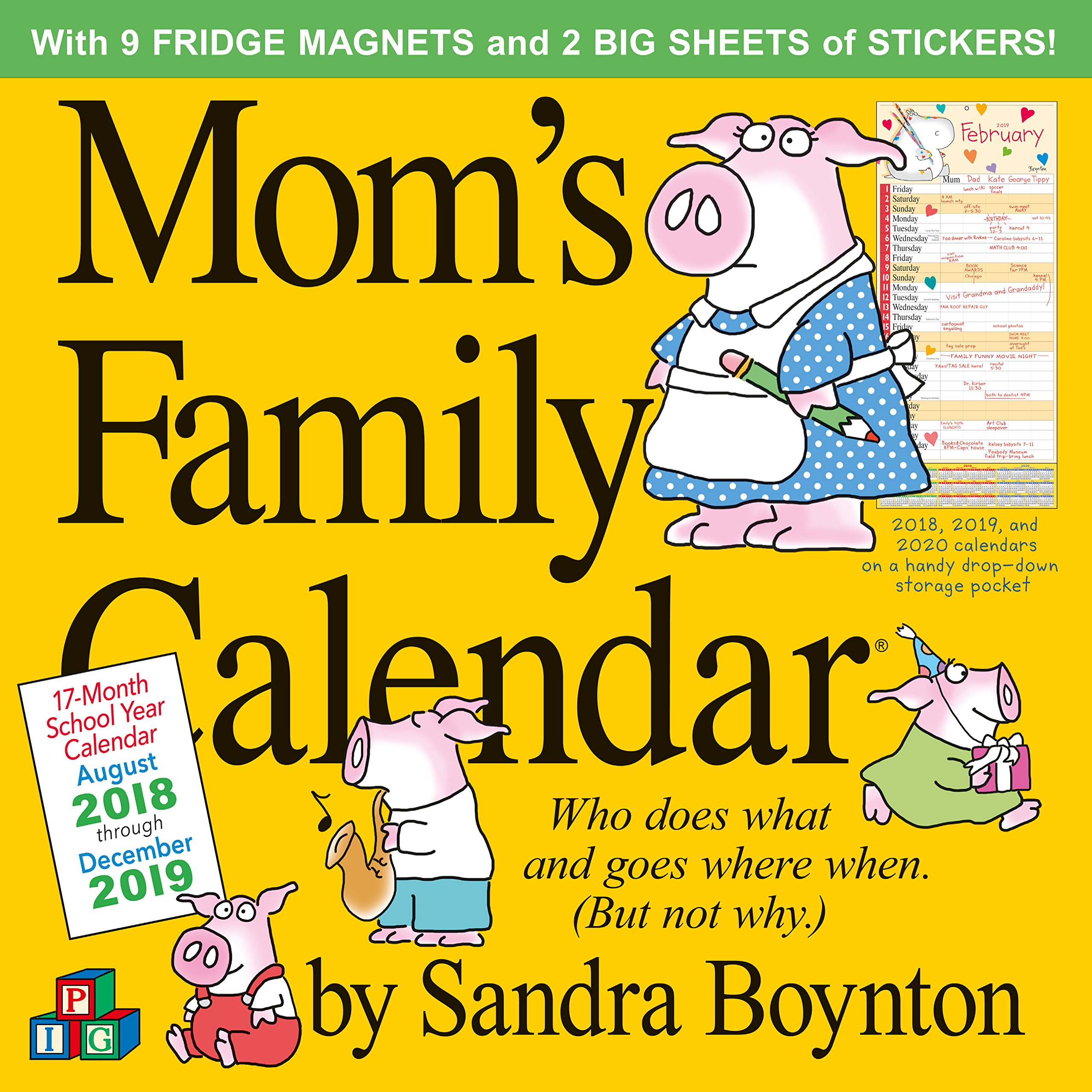 Mom S Busy Year Calendar 2019 With Family Wall Sandra Boynton 9781523503131