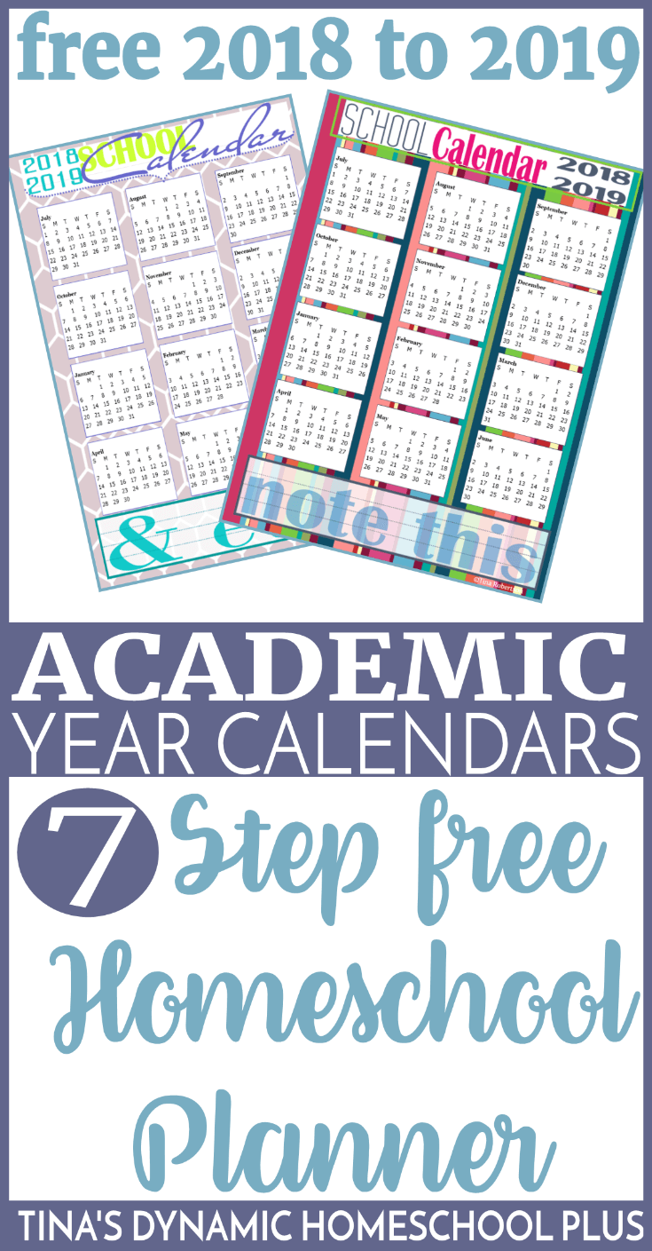 Mom S Busy Year Calendar 2019 With Free 2018 Academic Calendars Planner Pages