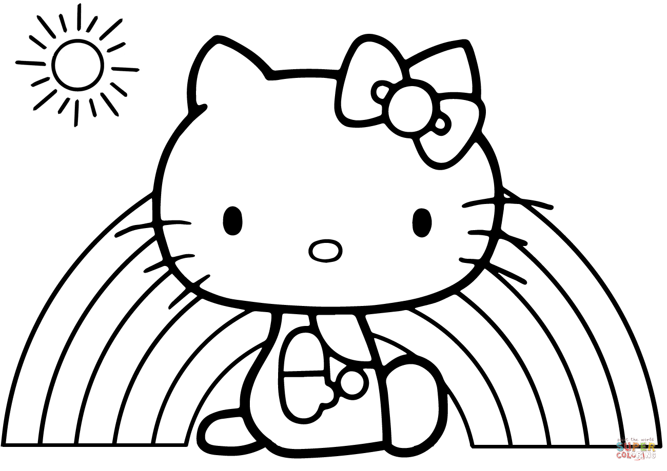 Movable Santa Claus Coloring Pages With Easy Pinterest Hello Kitty