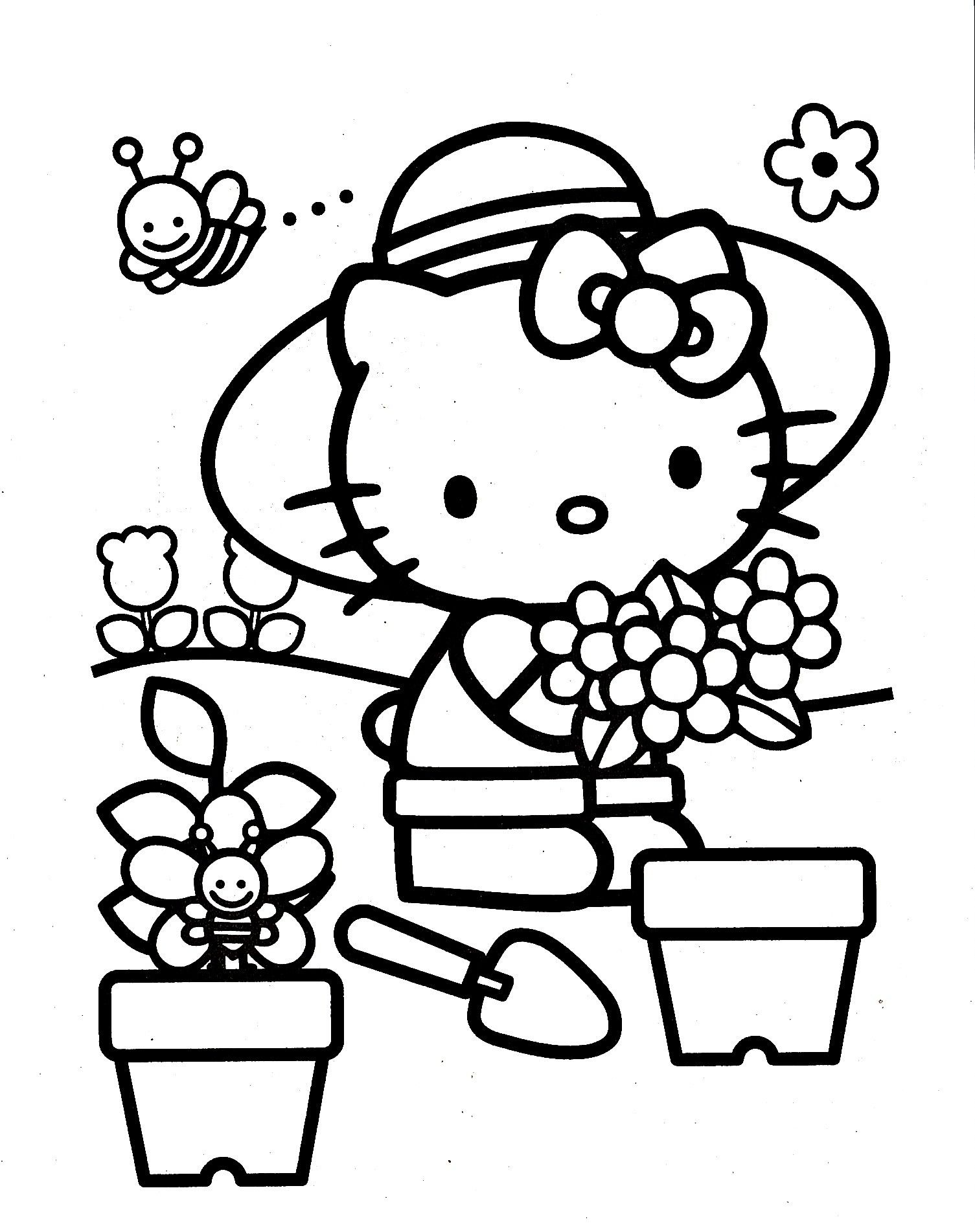 Movable Santa Claus Coloring Pages With Hello Kitty Page Pinterest