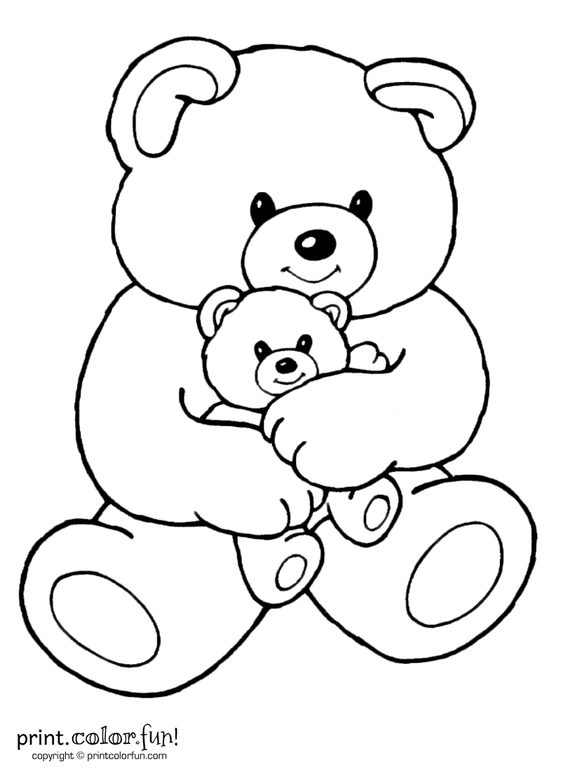 Movable Santa Claus Coloring Pages With Mom And Baby Bear Print Color Fun Free Printables