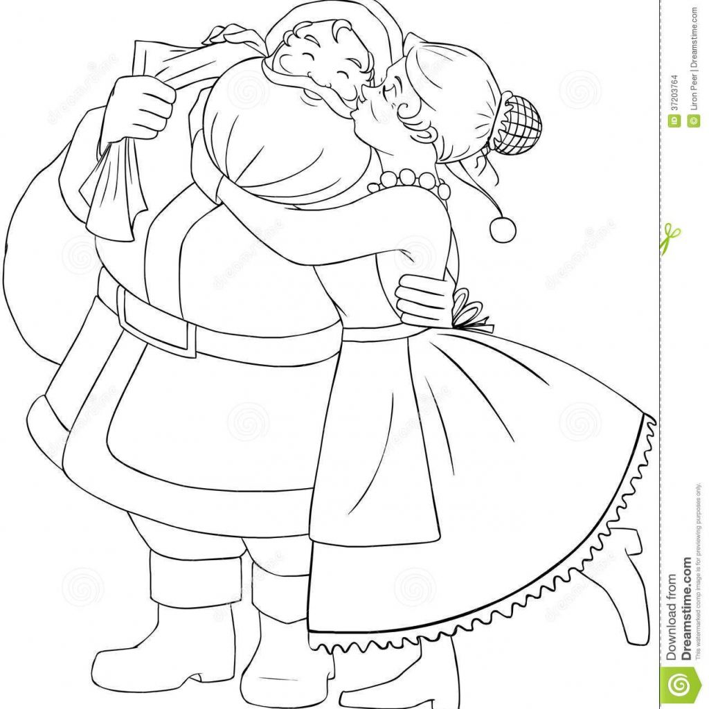 Mrs Santa Claus Coloring Pages With Christmas Page