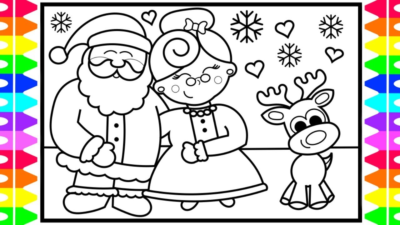 Ms Santa Claus Coloring Pages With How To Draw SANTA CLAUS And MRS Step By For Kids