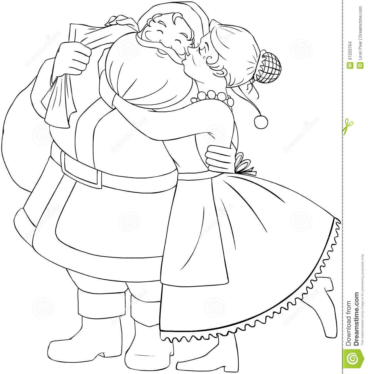 Ms Santa Claus Coloring Pages With Mrs Christmas Page