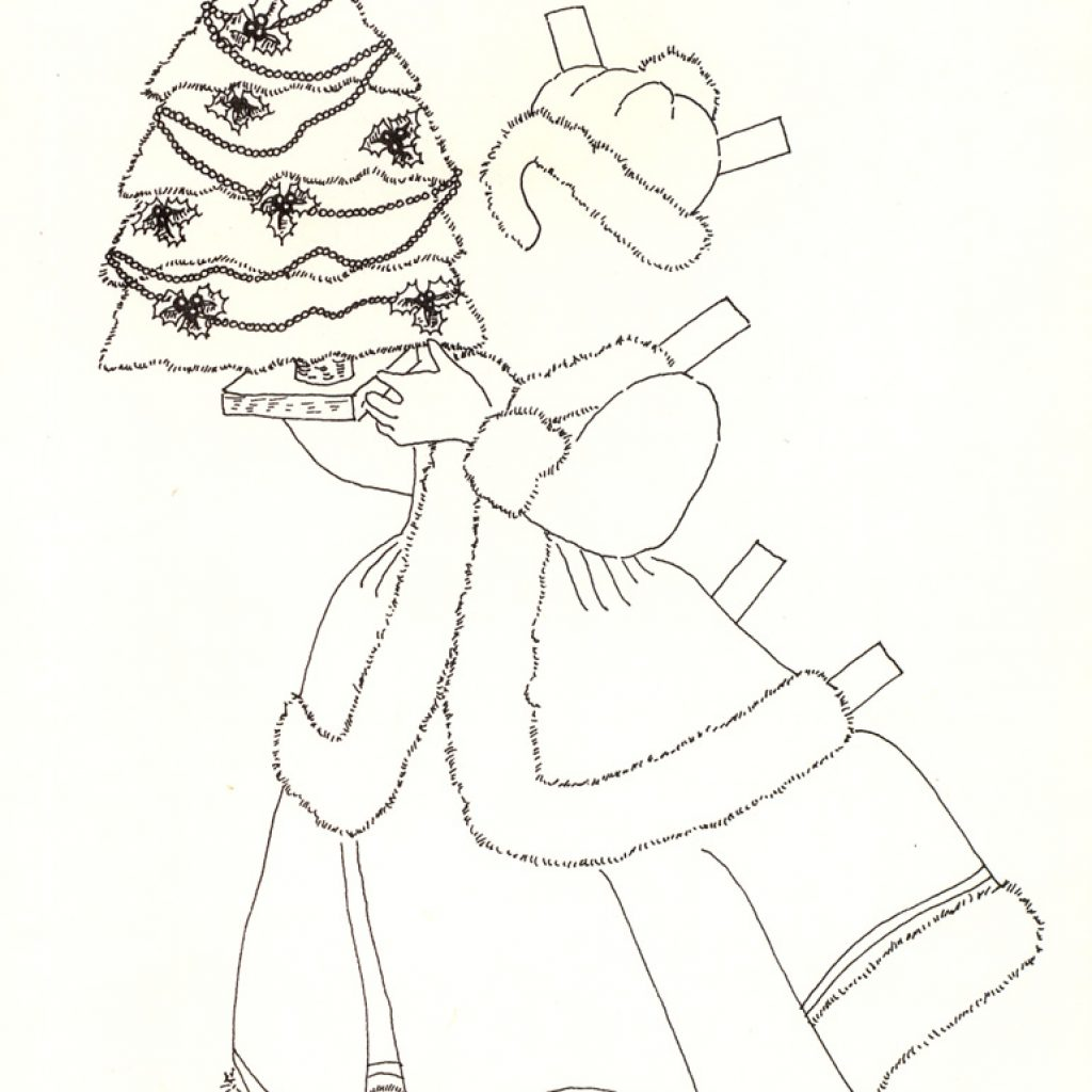 Ms Santa Claus Coloring Pages With Noel Mrs Greeting Card Paper Doll Marges8 S Blog
