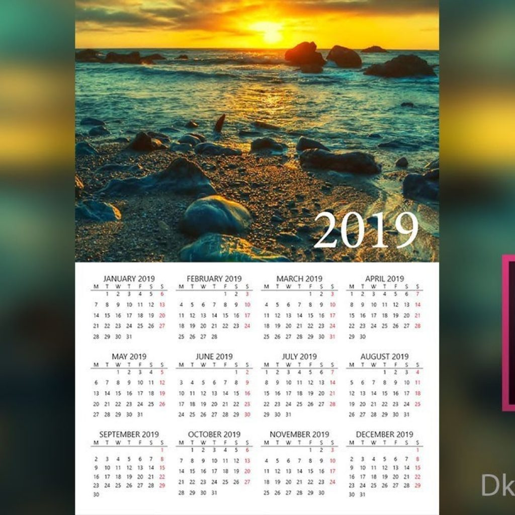 new-year-calendar-2019-with-design-in-adobe-indesign-hindi-youtube
