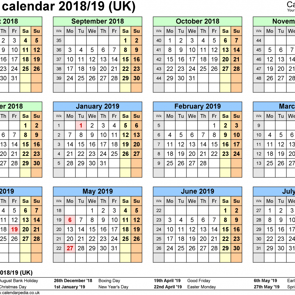 New Year Calendar 2019 With Holidays School Calendars 2018 As Free Printable Word Templates