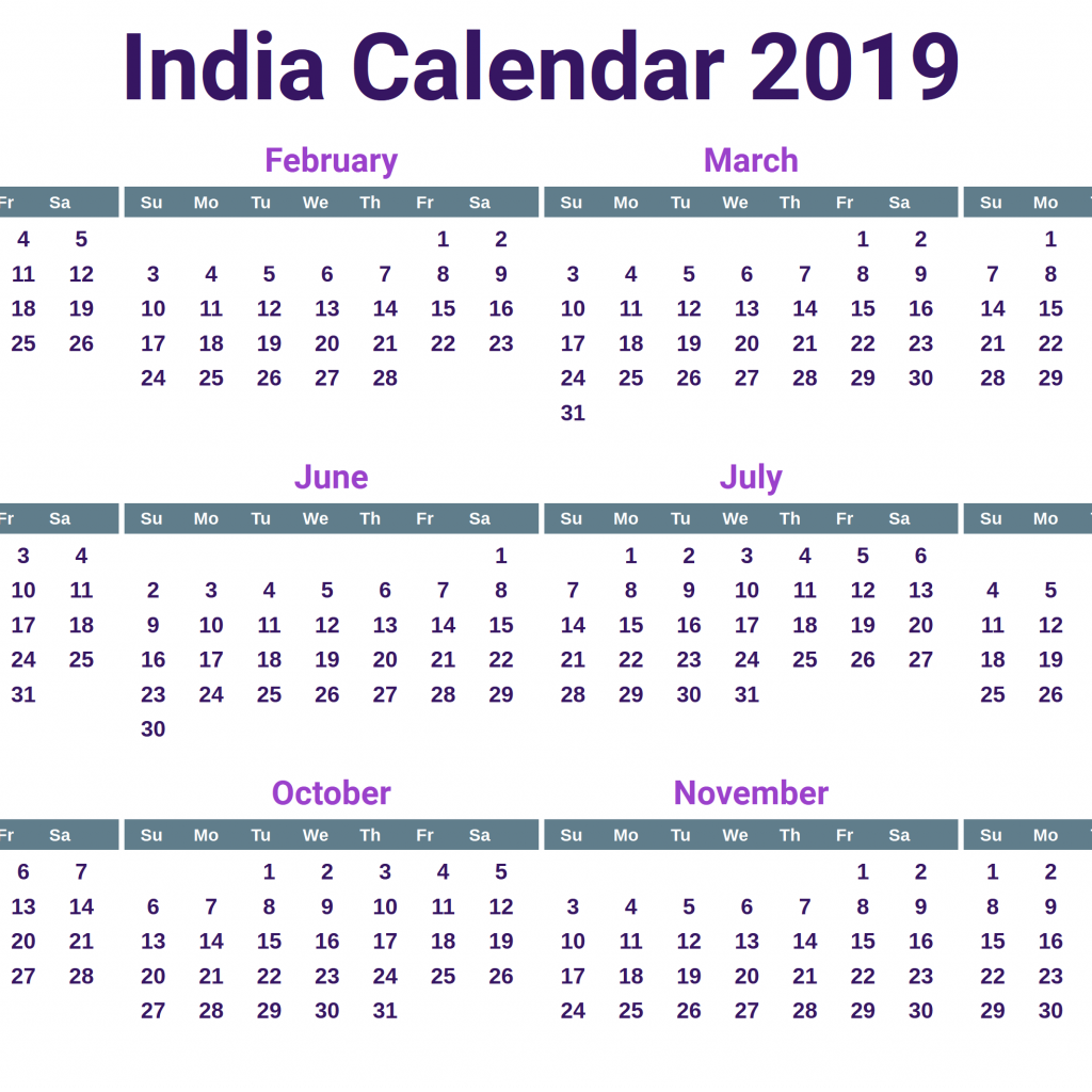 Next Year Calendar 2019 India With Free Printable Indian Holidays April 2018