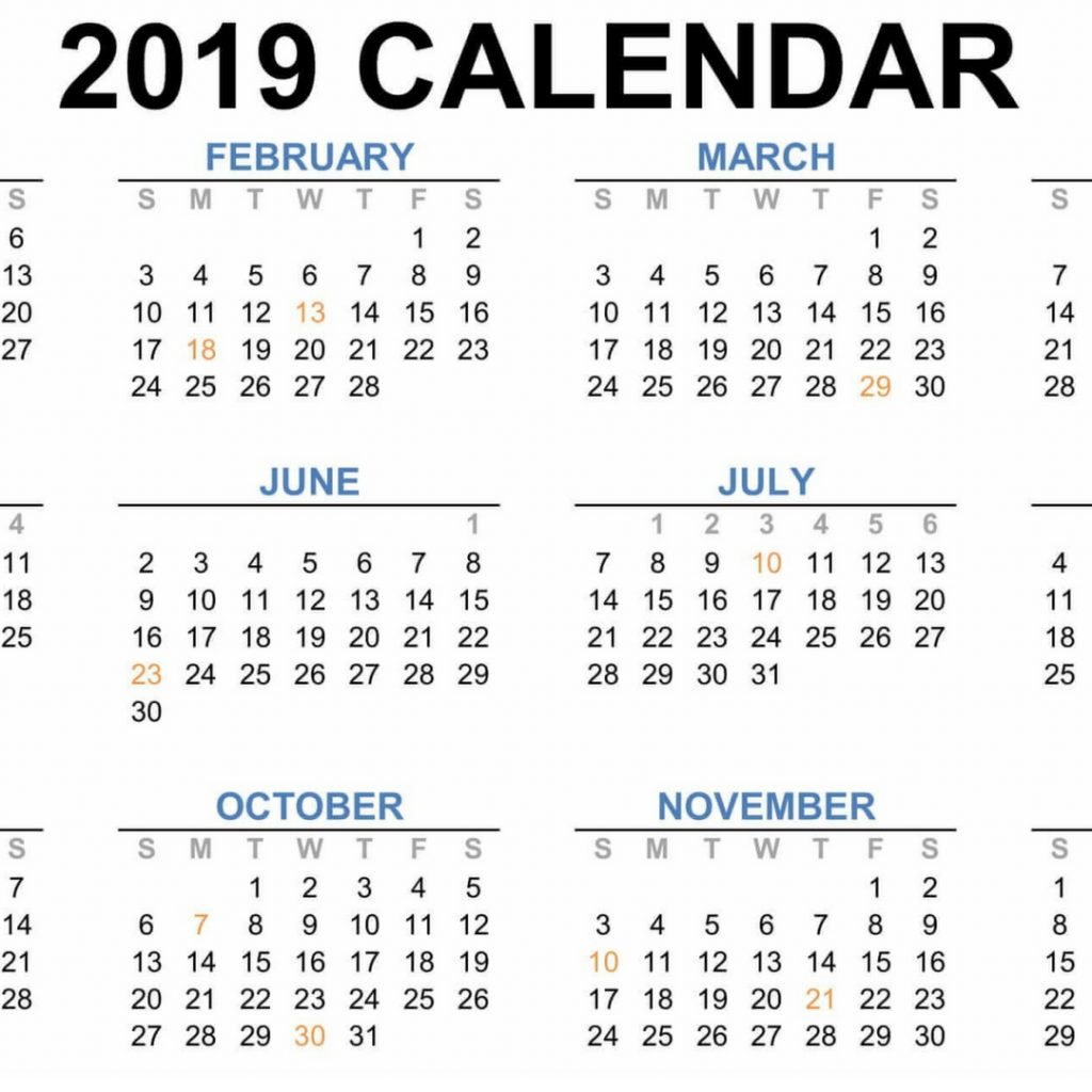 Next Year Calendar 2019 Malaysia With School Holidays Download Blank November