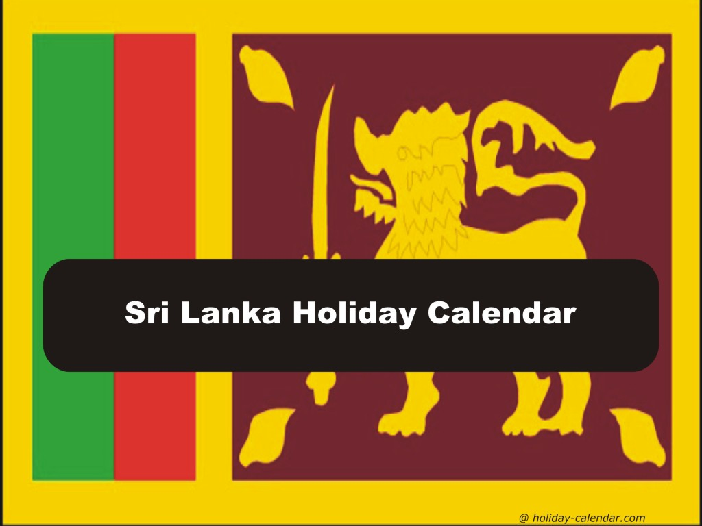 Next Year Calendar 2019 Sri Lanka With 2018 Holiday