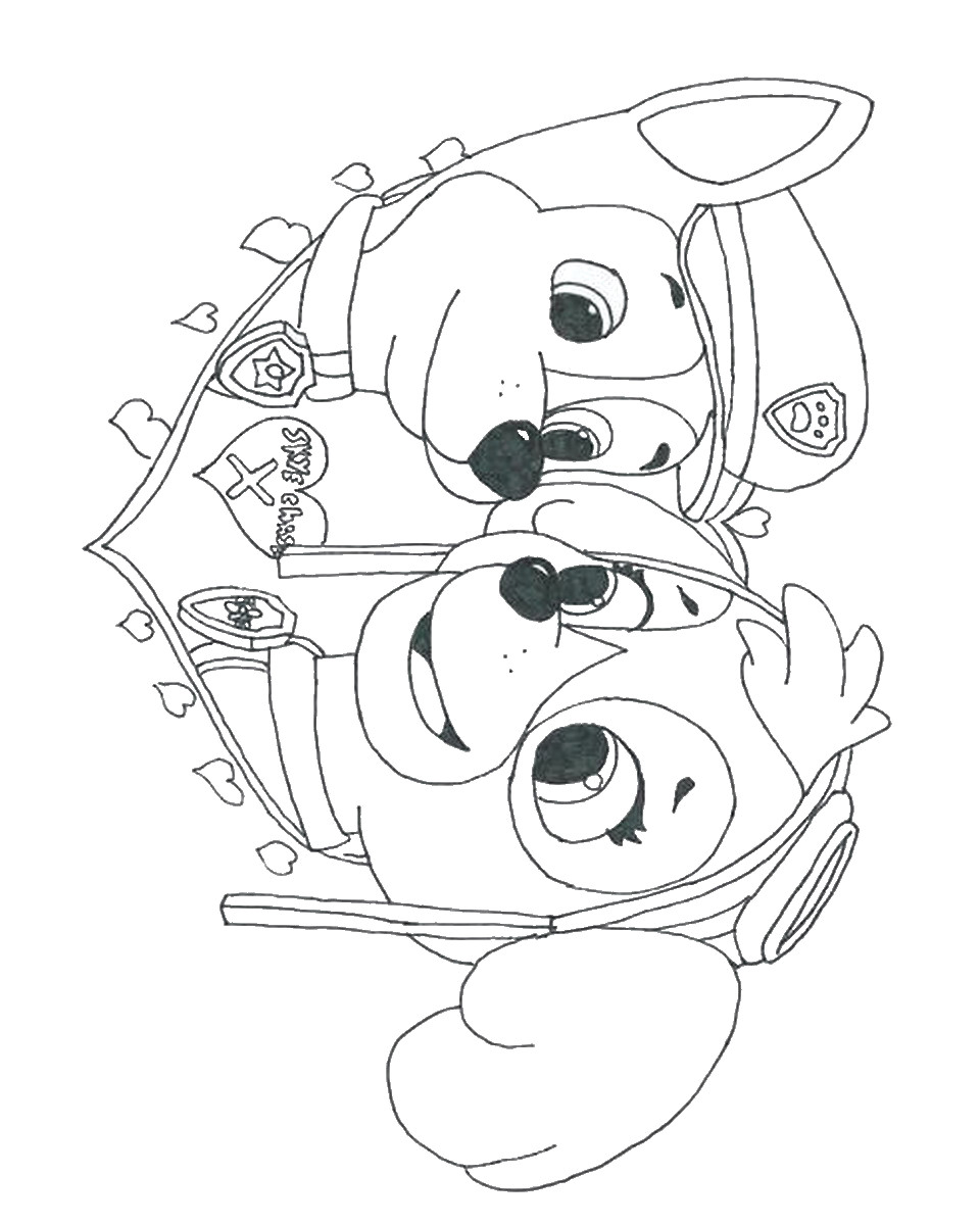 Nick Jr Christmas Coloring Pages With Film Paw Patrol New Skye Sky