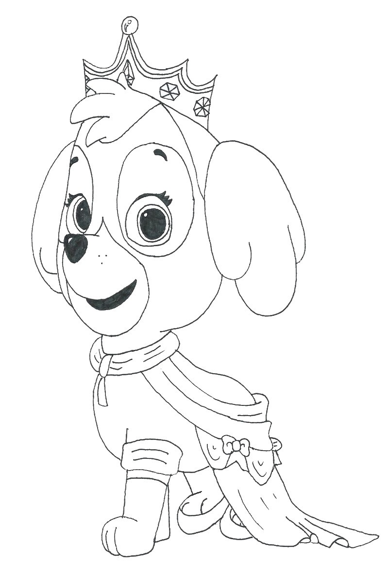 Nick Jr Christmas Coloring Pages With Scarce Skye Film Paw Patrol