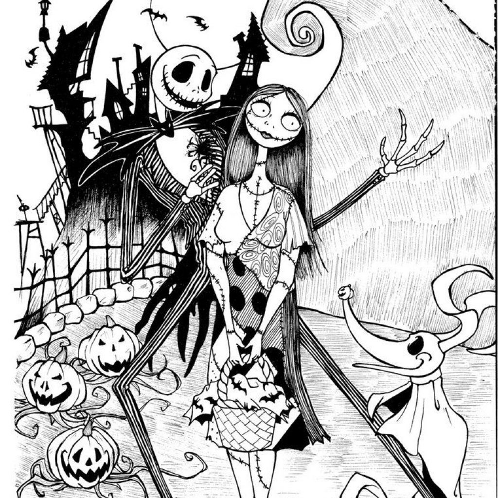 Nightmare Before Christmas Coloring Pages For Adults With 13 Fun Halloween Printables Office Supplies