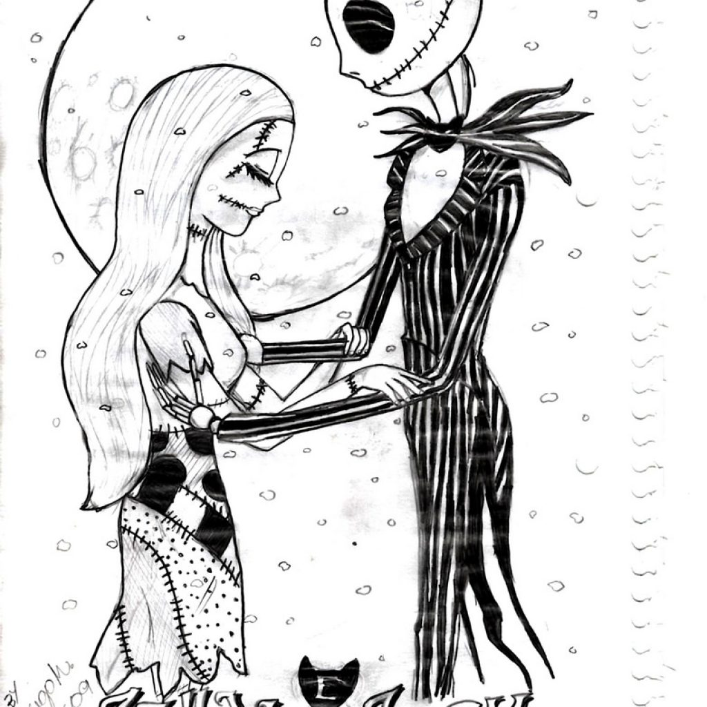 Nightmare Before Christmas Coloring Pages For Adults With Decorating Within Jack