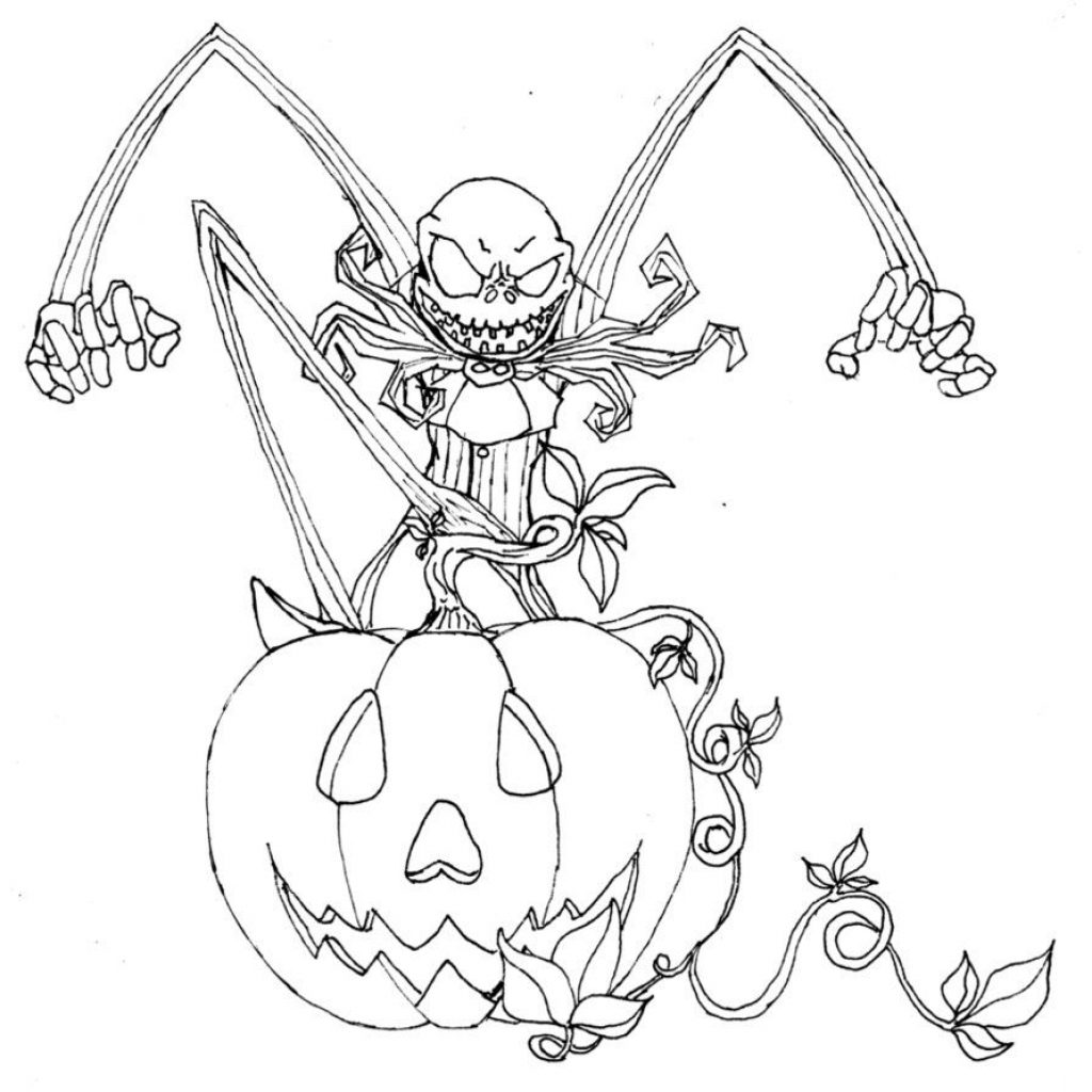 Nightmare Before Christmas Coloring Pages For Adults With Free Printable