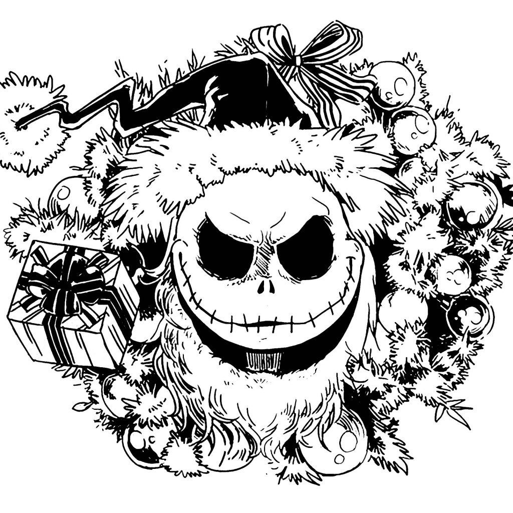 Nightmare Before Christmas Coloring Pages For Adults With The Download Free