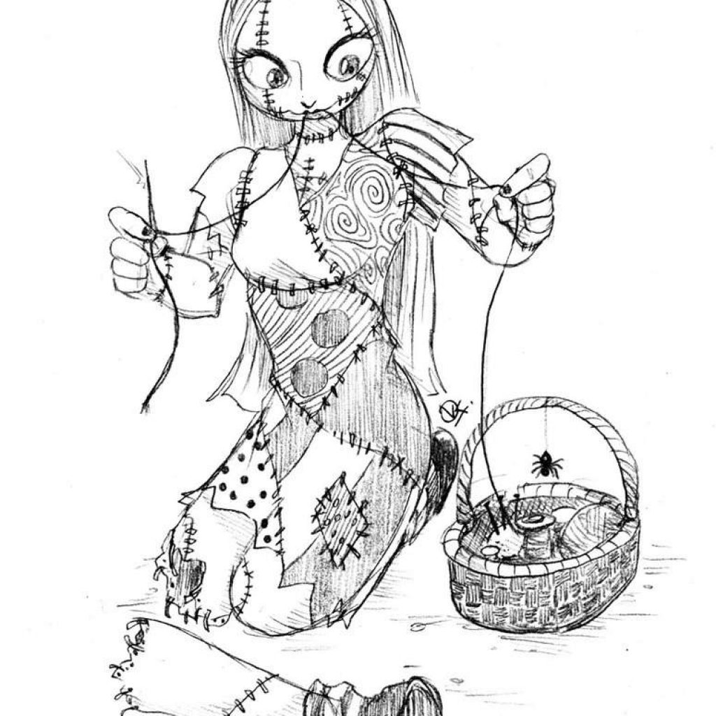Nightmare Before Christmas Coloring Pages For Adults With The New Printable 1833