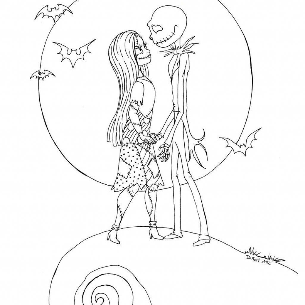 Nightmare Before Christmas Coloring Pages For Adults With The Printable