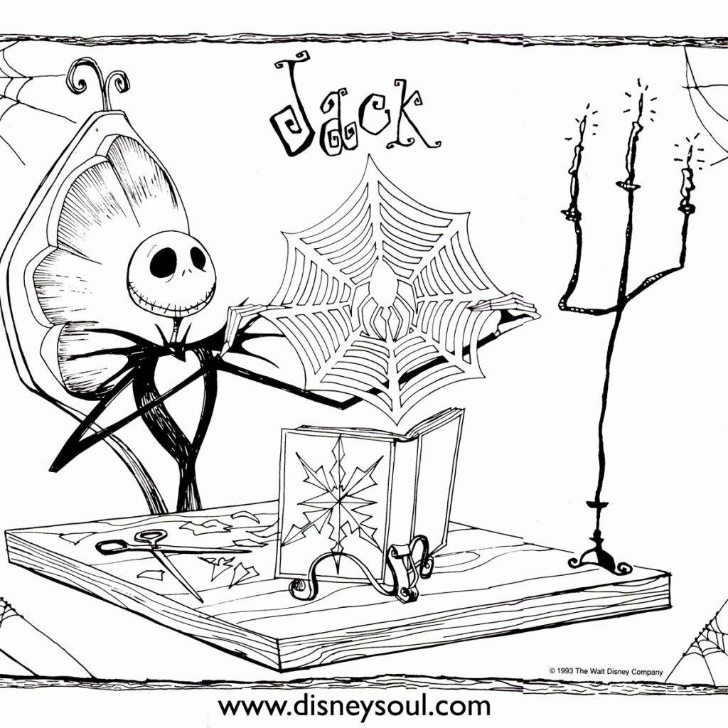 Nightmare Before Christmas Coloring Pages Printable With